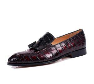 Mark Sloan Exotic Goodyear Welted Tassel Loafer