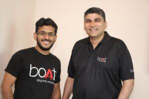 L-R - Aman Gupta and Sameer Mehta - Founders, boAt